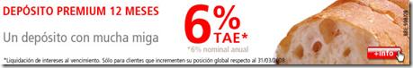 deposito premium a 12 meses al 6% TAE