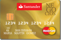 Tarjeta Santander Negocios