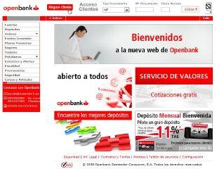 nueva pagina web de openbank