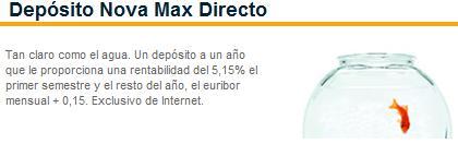 Depósito Nova Max Directo de Cajasol