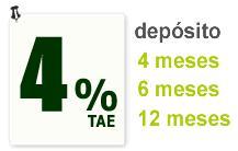 Depósito al 4% TAE a 4, 6 ó 12 meses de Línea Sa Nostra