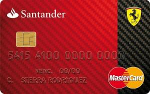 Tarjeta Ferrari Banco Santander