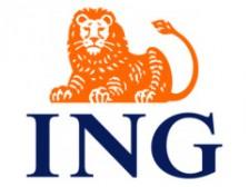 Cuenta Naranja de ING Direct, vemos el logotipo, un león naranja sobre las letras ING