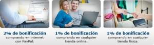 Condiciones y bonificaciones para la tarjeta de crédito paypal