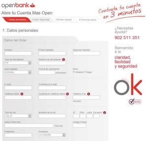 Abrir la Cuenta Openbank Más Open