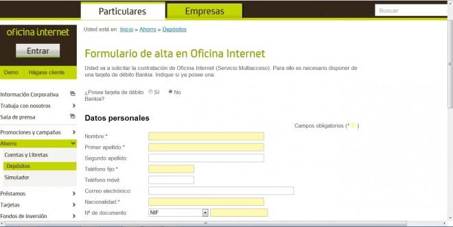 Dep sito 12 plus especial de bankia comparativa de dep sitos for Bankinter oficina internet
