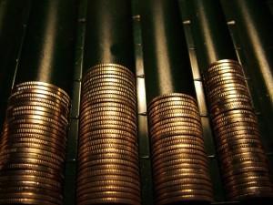 Monedas que simbolizan la subida del iva