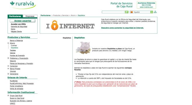 Dep sito ruralv a 12 meses de caixa rural balears for Caixa oficina internet