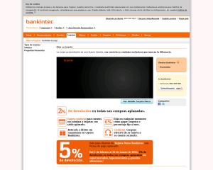 Proceso Contratación Bankinter Tarjeta 1