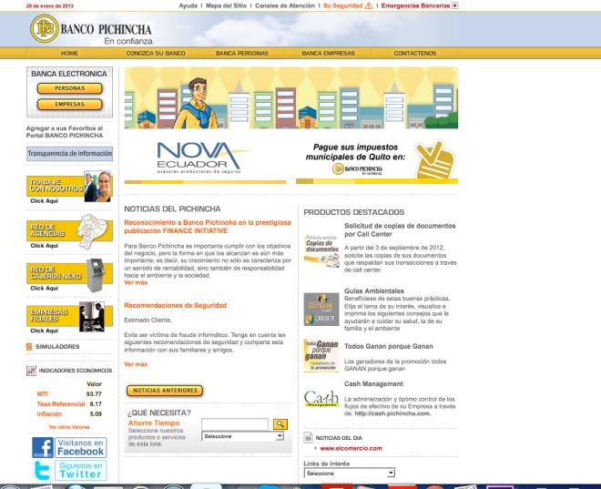 Dep sito anual a partir de euros de banco pichincha for Oficinas banco pichincha