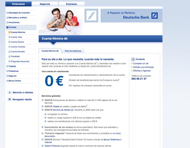 Cuenta n mina db de deutsche bank for Oficinas de deutsche bank