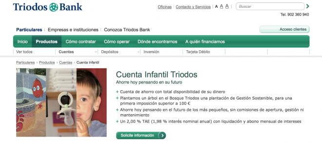 La cuenta infantil de Triodos Bank