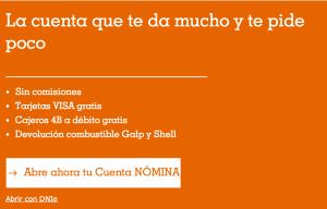 informacion cuenta naranja ing direct: