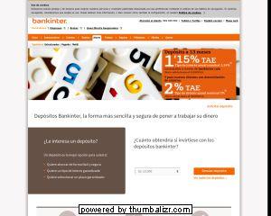 Proceso Contratación Bankinter pagina principal