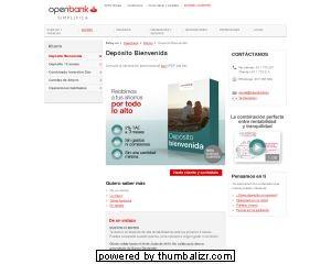 Proceso de contratación, Depósito Bienvenida Open bank 1