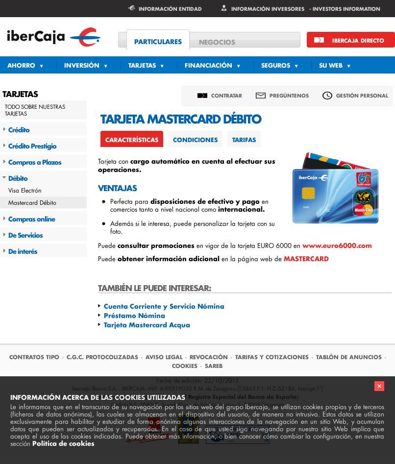 Proceso de contratación Tarjeta Mastercard Débito de IberCaja 2